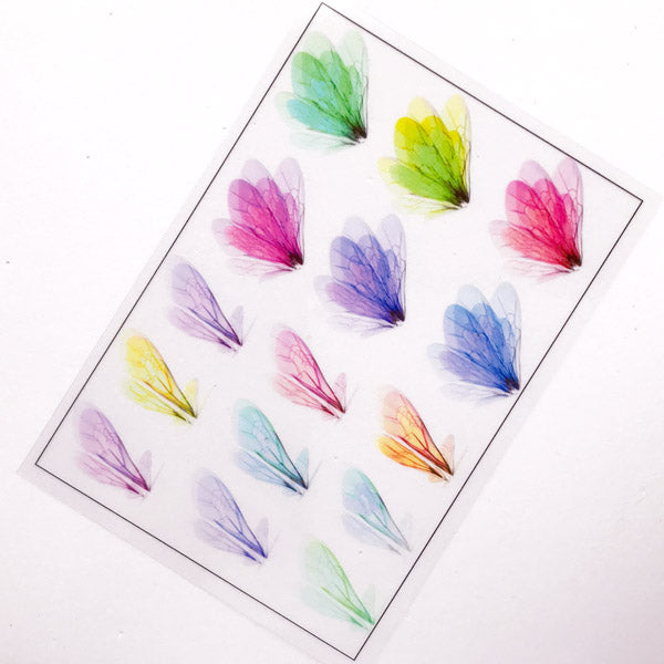 Butterfly and Dragonfly Wing Clear Film Sheet | Filling Material for Resin | Colorful Insect Embellishments