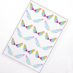 Rainbow Gradient Insect Wing Clear Film Sheet for Resin Art | Filling Materials for UV Resin | Magical Embellishment