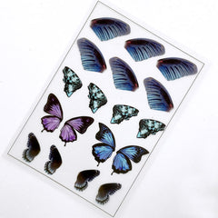 Butterfly Wings Clear Film Sheet for Resin Jewelry Making | Filling Materials | Resin Fillers | Resin Inclusions | Insect Embellishments
