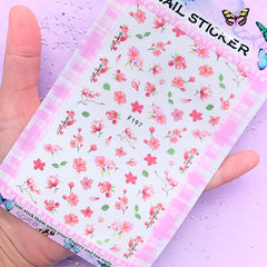 Pink Flower Sticker | Floral Embellishments | Filling Materials for Resin Art | Nail Decorations | UV Resin Inclusions