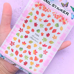 Autumn Maple Leaf and Fall Leaves Sticker | UV Resin Inclusion | Floral Resin Fillers | Embellishment for Resin Art | Nail Stickers