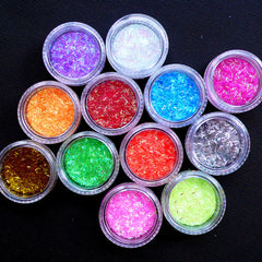 Assorted Bar Glitter | Iridescent Confetti | Holographic Sprinkles | Nail Art | Kawaii Resin Craft | Scrapbooking (12 Colors Mix)
