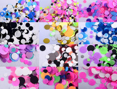 Round Confetti Mix in 1mm 2mm & 3mm | Colorful Sprinkles for Nail Art | Nail Design | Kawaii Resin Crafts | Party Supplies (Assorted Colors / 12pcs)