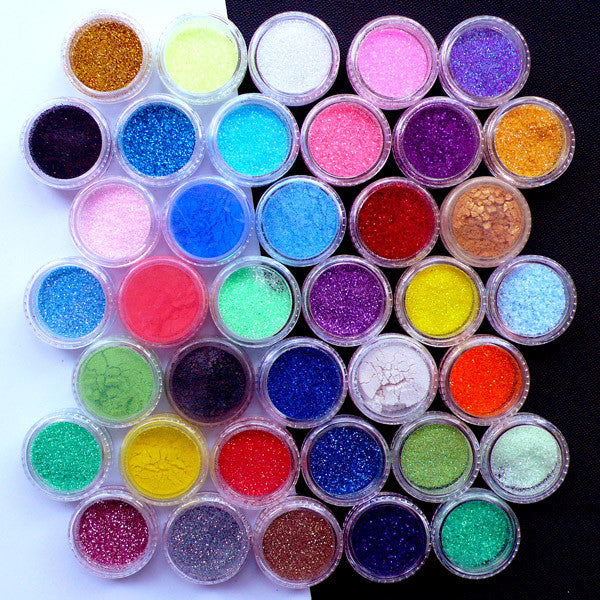 Assorted Glitters | Pearlescence Powder | Glittery Confetti | Iridescent Sprinkles | Bling Bling Nail Art Supplies | Sparkle Nail Design | Resin Crafts (5pcs or 10pcs by Random)