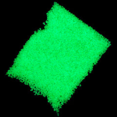 Phosphorescent Sand Particles | Fluorescent Sand | Glow in the Dark Sand | Wishing Jar Pendant | Resin Art (Green / 10 grams)