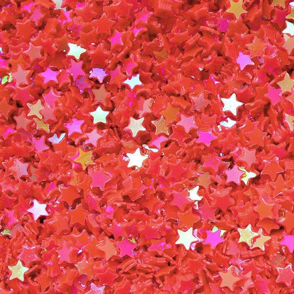 Star Sequin / Micro Star / Fake Topping / Star Glitter / Star Sprinkle / Star Confetti (AB Red Orange / 3mm / 3g) Resin Cabochon DIY Nail Art SPK43