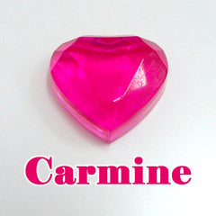 Dark Pink UV Resin | Ultraviolet Cured Resin | Hard UV Curing Resin | Kawaii Resin Craft | Resin Art | Solar Sunlight Activated Resin (25g / Translucent Clear Carmine)