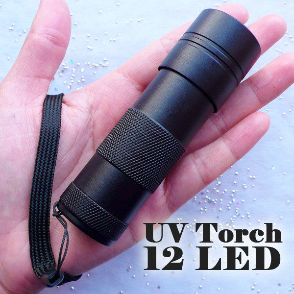 UV Torch | 12 LED Ultraviolet Flashlight | 395nm UV Purple Light | Tool for UV Resin Crafts