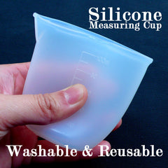 Silicone Measuring Cup | Washable & Reusable Measure Cup | 100ml Dosage Cup | Epoxy Resin Mixing Cup | Medicine Cup | Resin Crafts