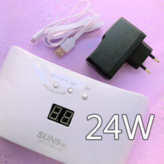 24W USB LED UV Light Lamp with Timer Display | SUN9 SE Ultraviolet Nail Dryer | UV Resin Craft Supplies