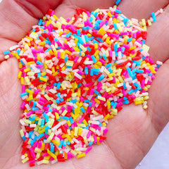 Colorful Polymer Clay Sprinkles | Fake Cupcake Toppings | Faux Cake Sprinkles | Fake Food Craft | Miniature Sweets Making (5 grams)