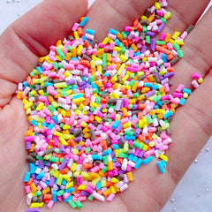 Fake Cupcake Sprinkles | Faux Chocolate Toppings | Colorful Cake Sprinkles | Polymer Clay Food Craft | Phone Case Decoden | Miniature Sweets Craft (5 grams)