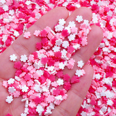 Sakura Sprinkles | Polymer Clay Cherry Blossom | Fimo Cupcake Toppings | Floral Sprinkles | Fake Sweets Deco | Kawaii Crafts (Assorted Mix / 5 grams)