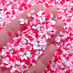 Sakura Petal Sprinkles | Polymer Clay Cupcake Toppings | Fimo Cherry Blossom | Kawaii Fake Food Jewellery Making (Assorted Mix / 5 grams)