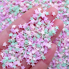 Star Sprinkles | Fake Confetti Toppings | Polymer Clay Food Making | Kawaii Fimo Crafts (Assorted Mix / 5 grams)