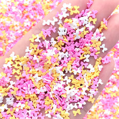 Ribbon Polymer Clay Confetti Sprinkles | Kawaii Fimo Toppings for Fake Food DIY | Sweets Deco Supplies (Assorted Mix / 5 grams)