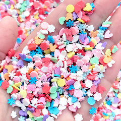 Colorful Polymer Clay Sprinkles in Various Shapes | Rainbow Fimo Confetti Mix | Kawaii Miniature Sweet Deco (Assorted Mix / 5 grams)