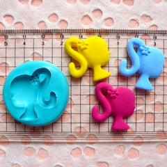 Girl Head with Flower (26mm) Silicone Flexible Push Mold Jewelry Charm Making Scrapbooking Decoden Supplies MD821