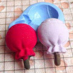 Lollipop Silicone Mold / Candy Flexible Mold (25mm) Decoden Supplies Mini Sweets Craft Fake Food Jewelry MD350