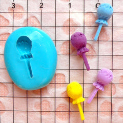 Lollipop Candy Flexible Mold (14mm) Miniature Food Dollhouse Sweets Mini Food Craft Fake Sweets Jewelry MD348