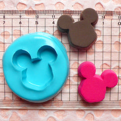 Mouse Shaped Chocolate Flexible Mold / Silicone Mold (26mm) Kawaii Decoden Supplies MD784