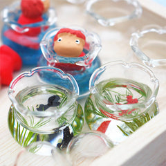 Dollhouse Fish Bowl | Miniature Glass Goldfish Tank | Doll House Supplies | Kawaii Jewelry DIY (1 piece / 16mm x 14mm)