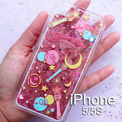 Glitter Phone Case for iPhone 5/5S/6/6S/6Plus | Kawaii iPhone Case | Anime Decoden Supplies
