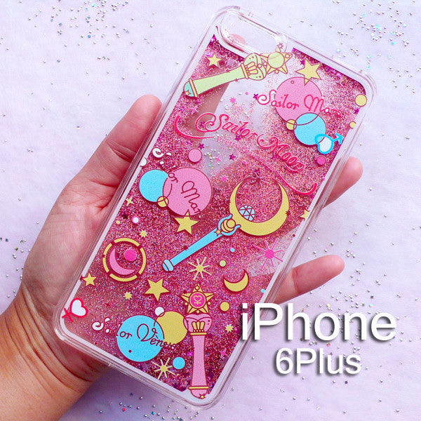 new concept 5adbe b012f Glitter Phone Case for iPhone 5/5S/6/6S/6Plus | Kawaii iPhone Case | Anime  Decoden Supplies