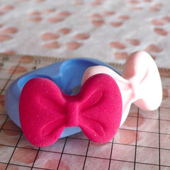Bow Mold Bowtie Mold 22mm Flexible Silicone Mold Cake Decoration Mold Kawaii Jewelry Cabochon Mold Clay Resin Cell Phone Deco Mold MD476