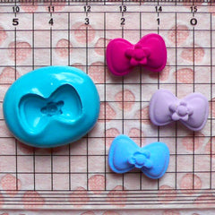 Bowtie Mold Bow Mold w/ Flower 18mm Silicone Flexible Mold Earring Mold Cake Deco Mold Mini Cupcake Topper Mold Fimo Polymer Clay Mold MD473