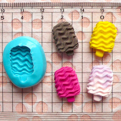 Silicone Flexible Mold - Crunchy Ice Cream Bar / Popsicle (18mm) Miniature Food, Sweets, Jewelry, Charms (Clay, Fimo, Resin) MD803