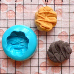 Bread Mold Bun Mold w/ Sauce 16mm Silicone Flexible Mold Kawaii Dollhouse Bakery Food Mold Miniature Sweets Deco Kitsch Jewelry Charms MD230