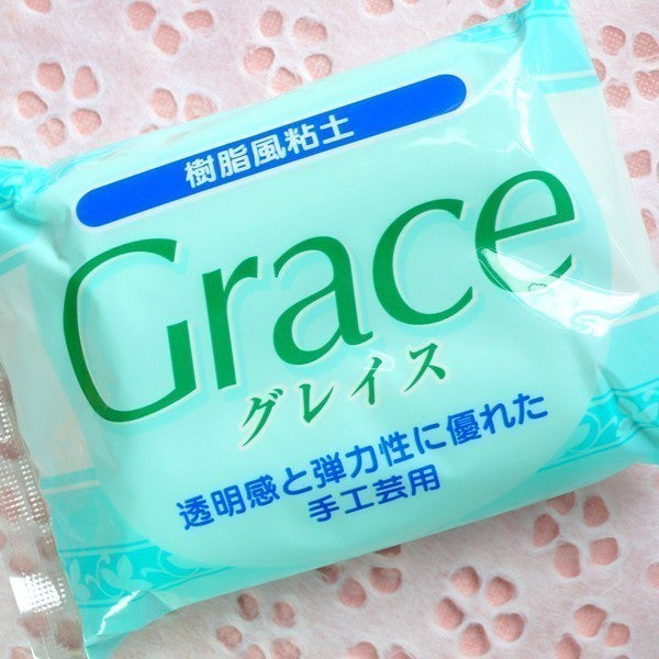 Clay Material - Resin Clay - Flower / Figurines / Miniature Food Dessert / Sweets - Grace Clay from Japan (White) (200g)