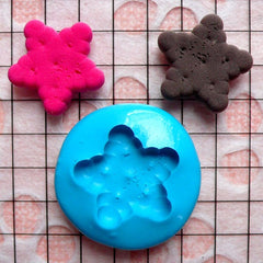 Kawaii Mold Cookie Biscuit Star 15mm Silicone Flexible Mold Miniature Sweets Decoden Fimo Polymer Jewelry DIY Earrings Cabochon Mould MD141
