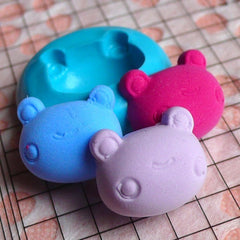 Animal Mold Frog Head Mold 16mm Flexible Silicone Mold Fondant Mold Gumpaste Cupcake Topper Jewelry Animal Cabochon Fimo Polymer Clay MD817