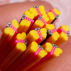 Polymer Clay Cane - Yellow Dragonfly - for Miniature Food / Dessert / Cake / Ice Cream Sundae Decoration and Nail Art CIN09