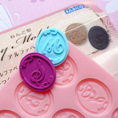 Alphabet (A-Z) and Letter (0-9) Mold Set from Padico (Japan) Kawaii Deco Sweets Cake Miniature Food Jewelry Charms DIY Cabochon Mold MD014