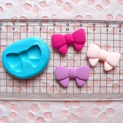 Ribbon / Bow (26mm) Silicone Flexible Push Mold - Miniature Food, Sweets, Jewelry, Charms (Clay, Fimo, Resin, Wax, Gum Paste, Fondant) MD767