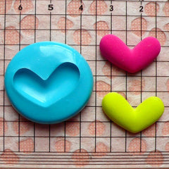 Heart Mold 21mm Silicone Flexible Mold Mini Cupcake Topper Fondand Gumpaste Mold Jewelry Earrings Ring Pendant Low Melt Metals Mold MD510