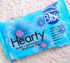 Super Light Weight Modeling Air Dry Paper Clay from Padico Hearty Japan (50g / Blue) Figurines Doll Making Flower Miniature Dollhouse Craft