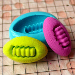 American Football (20mm) Silicone Flexible Push Mold Jewelry Charms Cupcake (Clay, Fimo, Resins, Epoxy, Wax, Soap, Gum Paste, Fondant) MD797