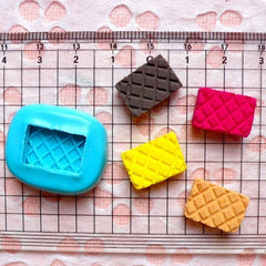 Wafer / Waffer Biscuit (16mm) Silicone Flexible Push Mold - Miniature Food Sweets Jewelry Charms (Clay Fimo Resin Gum Paste Fondant) MD302