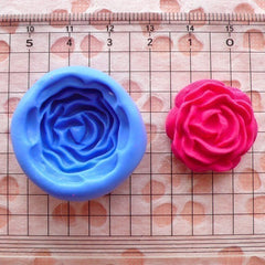 Flower / Rose (23mm) Silicone Flexible Push Mold - Jewelry, Charms, Cupcake (Clay, Fimo, Resin, Wax, Soap, Gum Paste, Fondant) MD585