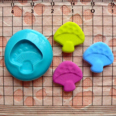 Mushroom (16mm) Silicone Flexible Push Mold - Miniature Food, Sweets, Cupcake, Jewelry, Charms (Clay Fimo Resin Gum Paste Fondant Wax) MD683