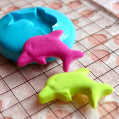 Dolphin Mold 18mm Silicone Flexible Mold Animal Jewelry Earring Mold Scrapbooking Mold Mini Cupcake Topper Mold Fondant Gumpaste Resin MD462
