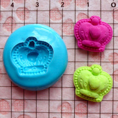 Crown Mold 16mm Flexible Silicone Mold Jewelry Earrings Mold Scrapbooking Mold Fimo Polymer Clay Resin Fondant Mold Cupcake Topper MD528