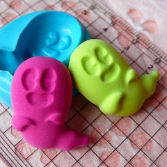 Ghost (26mm) Silicone Flexible Push Mold - Jewelry, Charms, Cupcake (Clay, Fimo, Resin, Wax, Soap, Epoxy, Gum Paste, Fondant) MD676