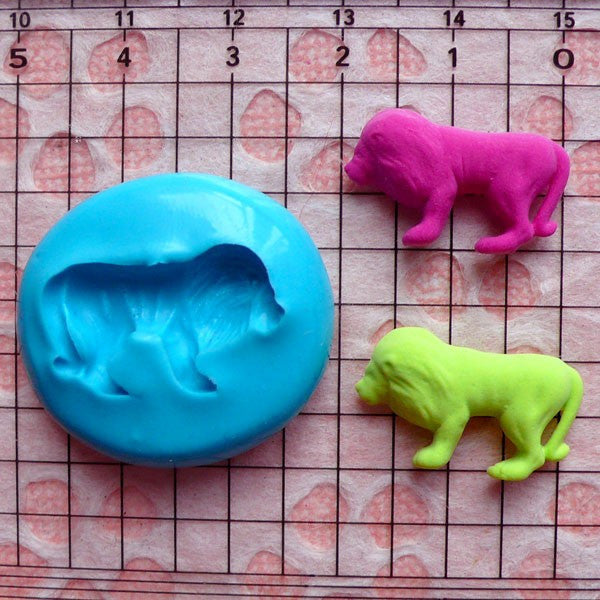 Lion Mold 21mm Silicone Flexible Mold Animal Earrings Mold Mini Cupcake Topper Fondant Mold Fimo Polymer Clay Resin Scrapbooking Mold MD424