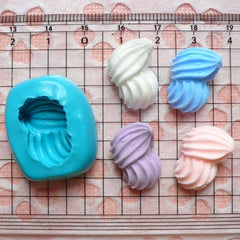 Whipped Cream Mold 19mm Silicone Flexible Mold Decoden Kawaii Miniature Sweets Fimo Polymer Clay Jewelry Cabochon Charms Resin Mold MD751
