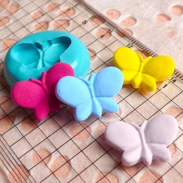 Butterfly (20mm) Silicone Flexible Push Mold - Miniature Food, Sweets, Cupcake, Jewelry Charms (Clay Fimo Resin Wax Gum Paste Fondant) MD409